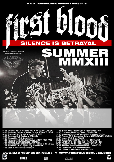 First Blood - Silence Is Betrayal Summer Tour