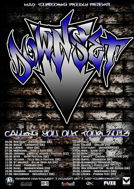 Downset - European Tour 2013