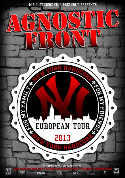 Agnostic Front : European Tour 2013