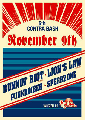 Nov 09 : Runnin´Riot + Lion´s Law, D5, Wurzen, Germany