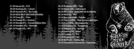 Siberian Meat Grinder : Euro Tour 2013