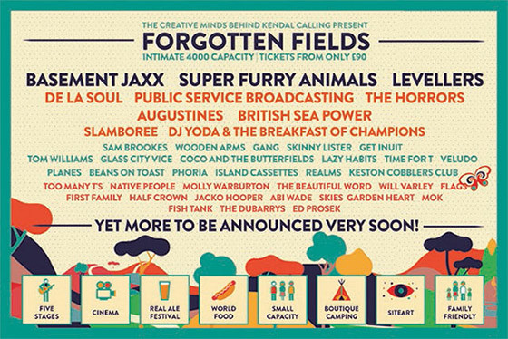 Forgotten Fields festival line-up