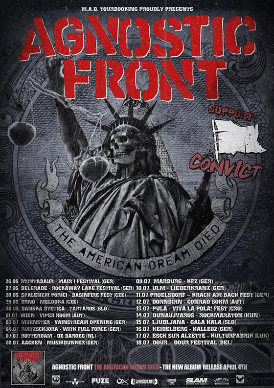 Agnostic Front - European Summer Tour 2015