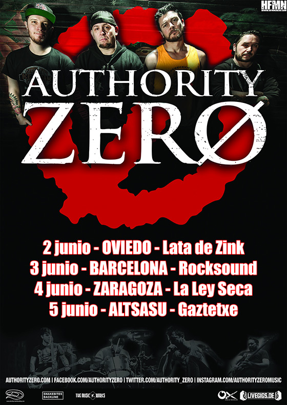 Authority Zero - Gira, Junio 2015 [HFMN Crew]