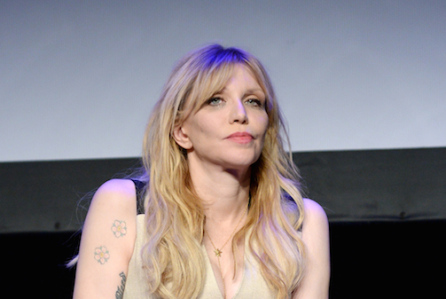 "NEW YORK, NY - APRIL 19:  Courtney Love speaks onstage during the premiere of ""Kurt Cobain: Montage Of Heck"" during the 2015 Tribeca Film Festival at Spring Studio on April 19, 2015 in New York City.  (Photo by Ben Gabbe/Getty Images for the 2015 Tribeca Film Festival)"