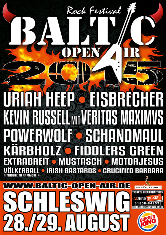 Baltic Open Air 2015 - Lineup