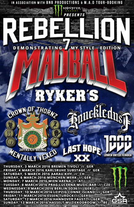 Madball — Rebellion Tour 2016