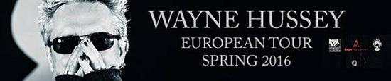 Wayne Hussey - European Tour 2016